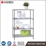 Adjustable DIY 4 Tiers Home Storage Chrome Metal Wire Shelving