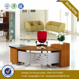 Classic L Shape Office Furniture White Melamine Office Desk (NS-NW043)