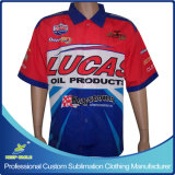 Custom Sublimation Printing Men′s Motorcycle Pit Crew Race Shirts