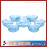 7PC Color Glass Salad Bowl Set