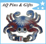 Fireworks Crabs Custom Glitter Pin Badge with Epoxy (badge-011)