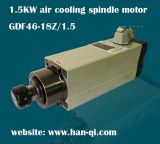 1.5kw Hqd AC Square Air Cooling CNC Motor Spindle Gdf46-18z/1.5