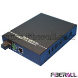 100km Wdm Ethernet Fiber Media Converter 10/100m with Optical Transceiver