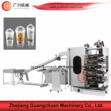 Inclined Type Feeding Six Color Plastic Cup Printing Machine