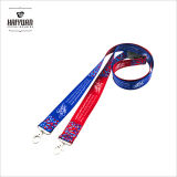 National Wind Dye Sublimation Lanyards in Vibrant Full Color.