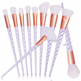 Professional 10PCS Face Fundation Unicorn Cosmetic Brush Set