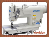 High-Speed Double Needle Single Needle Bar Mini-Oil Lockstitch Sewing Machine with Standard Hook Wd-8420d