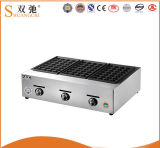 Commercial 3 Head Gas Fish Pellet Grill with Stainless Steel
