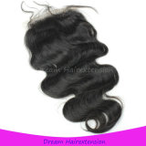 Natural Virgin Human Hair Body Wave Free Part Lace Closure 4*4 Inch