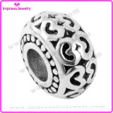 European Beads with Black Enamel Fit Snake Chain Charms Bracelet