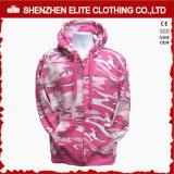 Custom Logo Women′s Pink Camo Hoodies Wholesale Price (ELTHI-67)