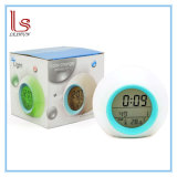 Seven Color Backlight Alarm Clock Lounged Cartoon