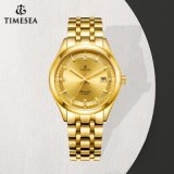 New Designer Mens Gold Automatic Watch with Japan Movement 72839