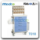 Color Steel Meidcal Anaesthetic Trolly