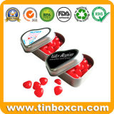 Heart Tin Confectionary Can with Food Grade, Candy Tin Box