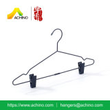 Black Wire Suit Hanger with Clips
