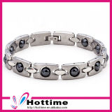 Hottime Fashion Stainless Steel Energy Bracelet with Hematite (CP-JS-BL-125)