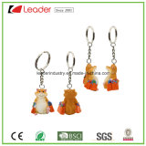 Promotion Gift Resin Shopping Hamster Keychain