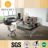 China New Executive Office Table with Leather (V9A)