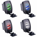 Universal Waterproof Carling Style Rocker Dual USB Charger for Toyota