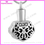 Ijd9640 New Style Unique Crystal Polygon 316L Stainless Steel Cremation Pendant Necklace Pet Memorial Charm Locket