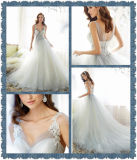 2017 Collection A-Line Tulle Wedding Dress Bridal Gown Dress (Dream-100005)