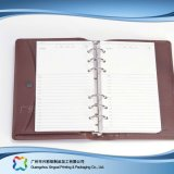 Office/Business Stationery Leather Cover Notebook with Pockets (xc-stn-019)