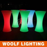 Design for Party Event Rbg Color Changeable LED Plastic Lighting Table