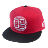 Customized High Quality Red Hat and Embroidery Snapback Cap