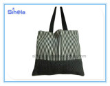 Kitty, Cherry, Stripe Design Canvas Tote Bag