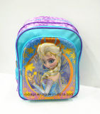 2017 New Design PVC+Satin Frozen Children School Backpack