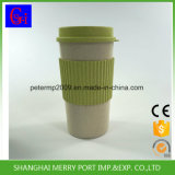 Wheat Fiber Cup with Lid/Wheat Fiber Mug with Lid/White Fiber Coffee Cup