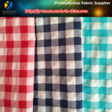 Polyester and Nylon Mixed Yarn Dyed Fabric, Crinkle Check Fabric for Beach Shorts