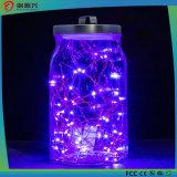 String Lights, Super Bright Warm Purple Color Wire Rope Lights-Purple