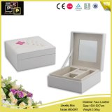 Exquisite White Popular Mirrored Square Custom Leather Jewelry Packaging Box