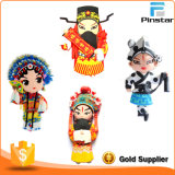 Silicone 3D Traditional Opera Role Fridge Magnet Sticker