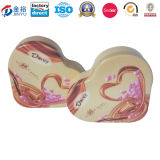Embossing Heart Shaped Metal Wedding Favor Box for Wedding Gift