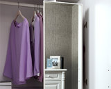 Modern Bedroom Furniture White Wooden Wholesale Wardrobe with Shelves (YG11322)