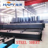 Profiled Steel Sheet in Poultry House with Equipment and Setter
