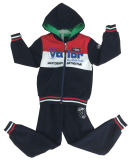 Kids Boy Sport Suit Set with Zipper and Hood in Children Clothing Swb-112