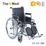 Steel Wheelchair with Elevating Footrest (also can be orthopaedic wheelchair)