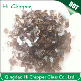 Grey Mirror Reflective Fire Pit Glass Chips