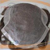 Full Handtied Type 100% Human Indian Light Brown Color Mens Toupee (PPG-c-0102)