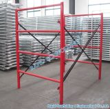 Powder Coated SGS Metal Types of Heavy Duty Ladder Frame System Scaffolding