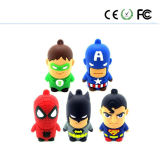 Cartoon USB Flash Drive, Captain America U Disk, U Disk Superman, Batman U Disk, Spider-Man U Disk, Creative USB Flash Drive, Gift Pendrive