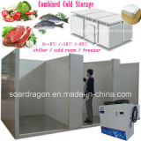 Pratical Cold Storage Combined with Chiller Room and Freezer Room