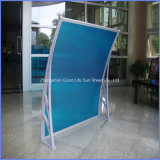 Beautiful Style 1000X1500mm Easy Assembling Plastic PC Hollow Used Awnings