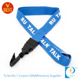 Custom Flat Polyester Screen Printed Stain Ribbon with Clip