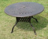 "Garden 48"" Cast Aluminum Round Table Furniture (Easy assembly)"