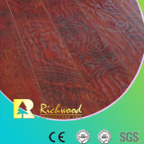 Household HDF AC4 Embossed Elm V-Grooved Waxed Edged Laminate Flooring